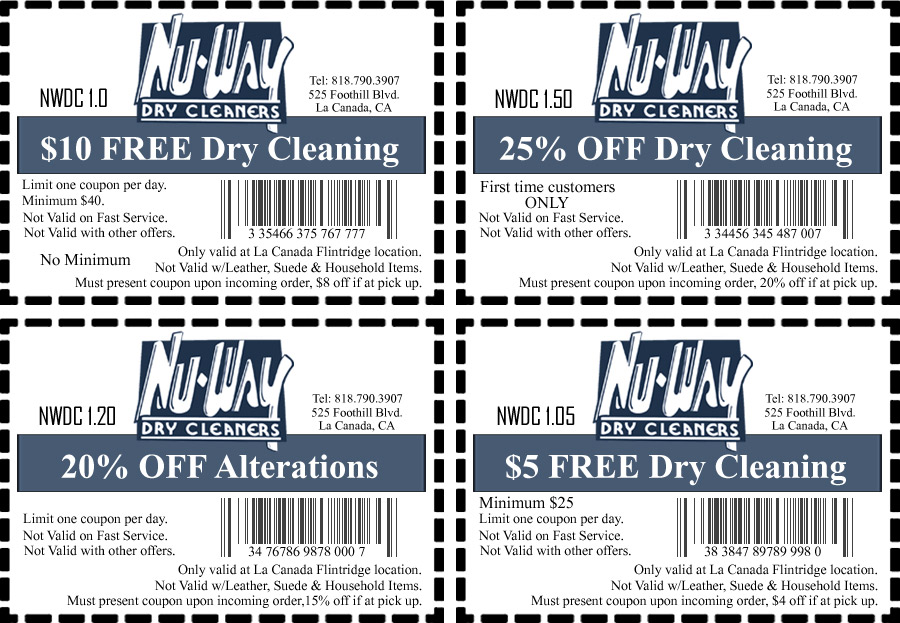 Coupons Nu Way Dry Cleaners